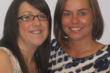 Visualase Clinic Manager Hilary Smith with laser eye surgery patient Jane.