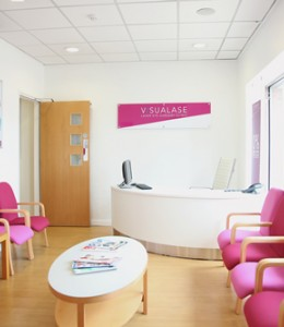 Arrival at Visualase laser eye surgery clinic for your consultation.