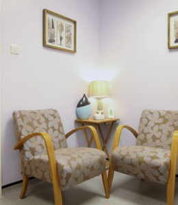 The recovery room at Visualase laser eye clinic, Bolton.