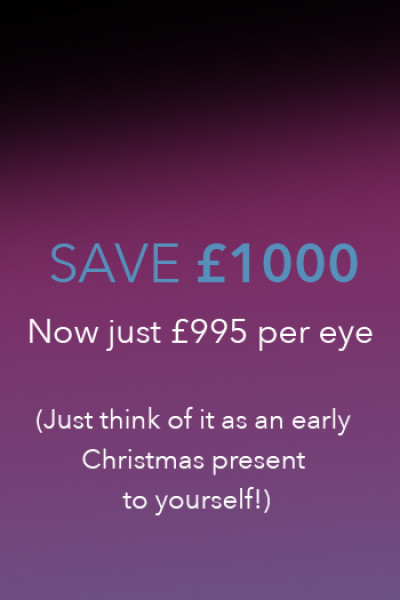 Laser eye surgery for £995 per eye for a limited time only