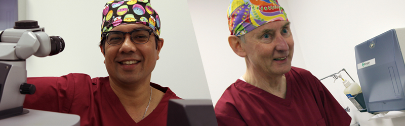 Meet our laser eye surgeons - Mr Manoj Mathai and Dr Stephen Doyle.