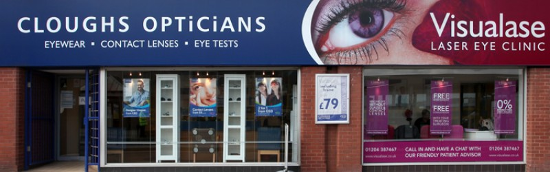 Clough's Opticians and Visualase laser eye surgery clinic operate a shared care packaged with patients.